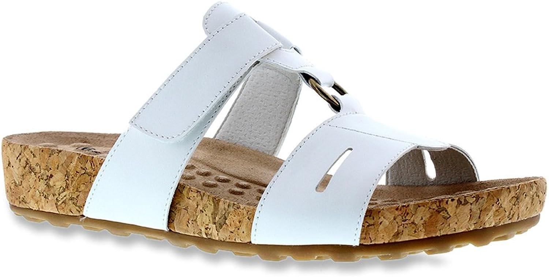 Walking Cradles Women's Penny Black Silver Snake Print sandals 9 X WIDE