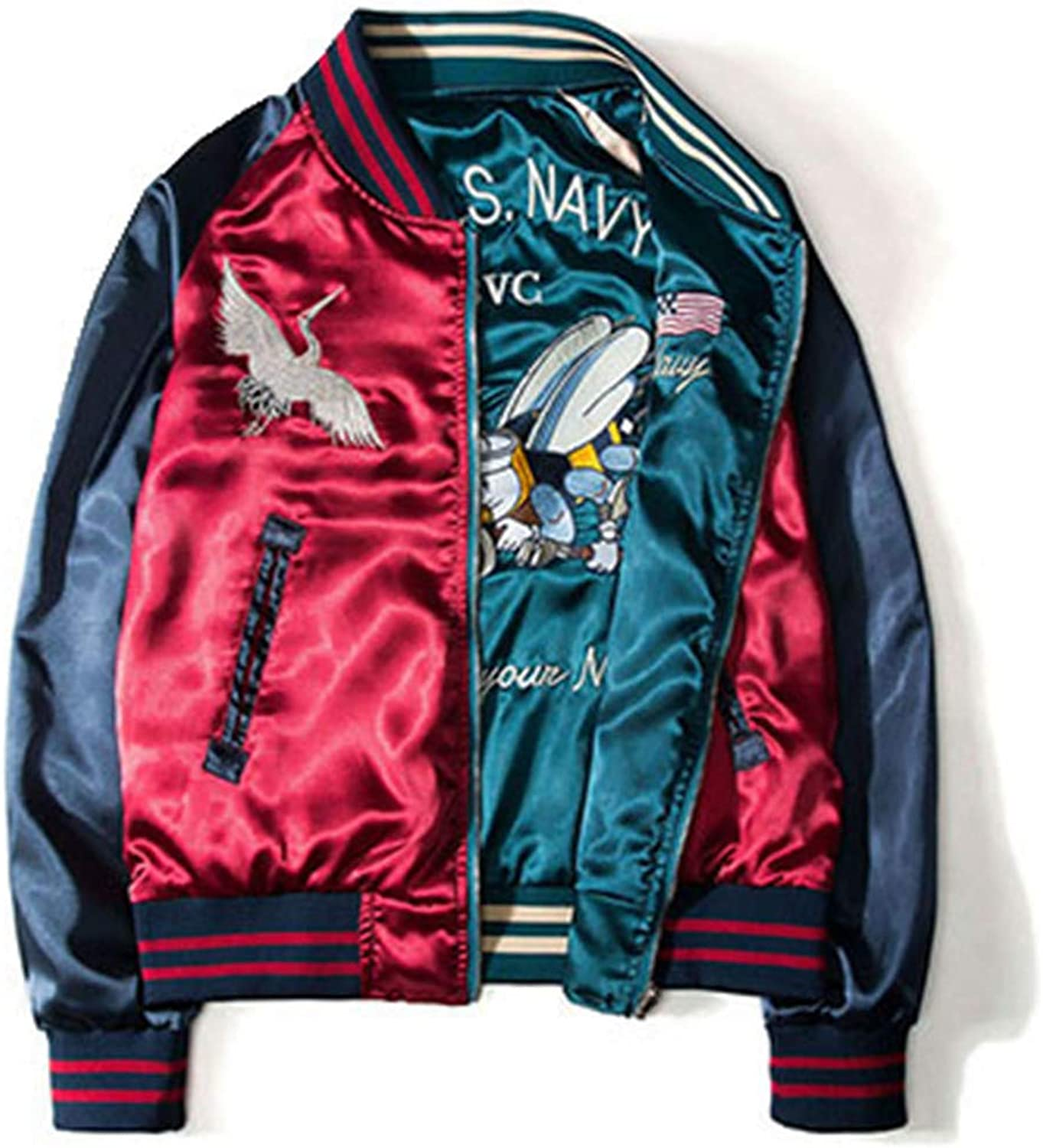 BACHDLS Spring Women's Buttoned Casual Boyfriend Embroidered Jacket and Jacket