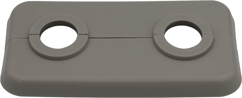 pl/ástico blanco 19mm para tubo di/ámetros: 12mm polipropileno 16mm 17mm 10 Piezas de rosetas dobles para tubos de calefacci/ón 18mm 14mm 17mm 21,3mm; rosetones// protectoras radiador// cubiertas 15mm