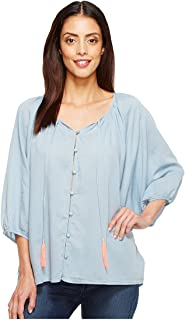 Joe's Jeans Women's Juliette Denim Gauze Blouse