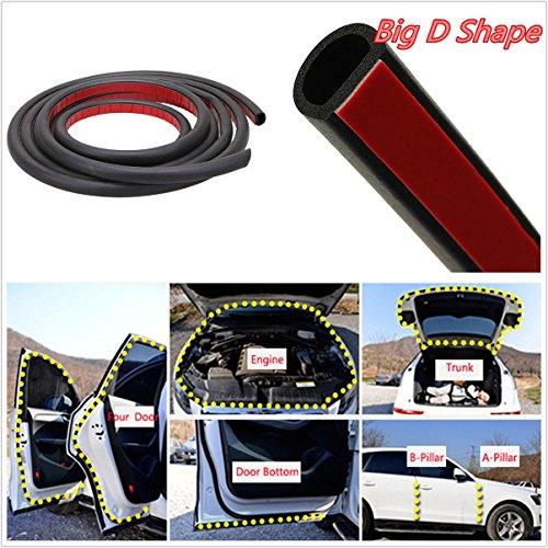 Burletes de goma, forma de D, para sellar, 39ft /12m, para Puertas de coche, camión, para proteger del clima, OEM,