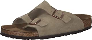 Birkenstock Zürich Taupe Soft Footbed Suede Leather