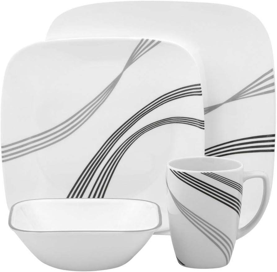Corelle Square Urban Arc 20 Piece Dinnerware Set, Service for 20