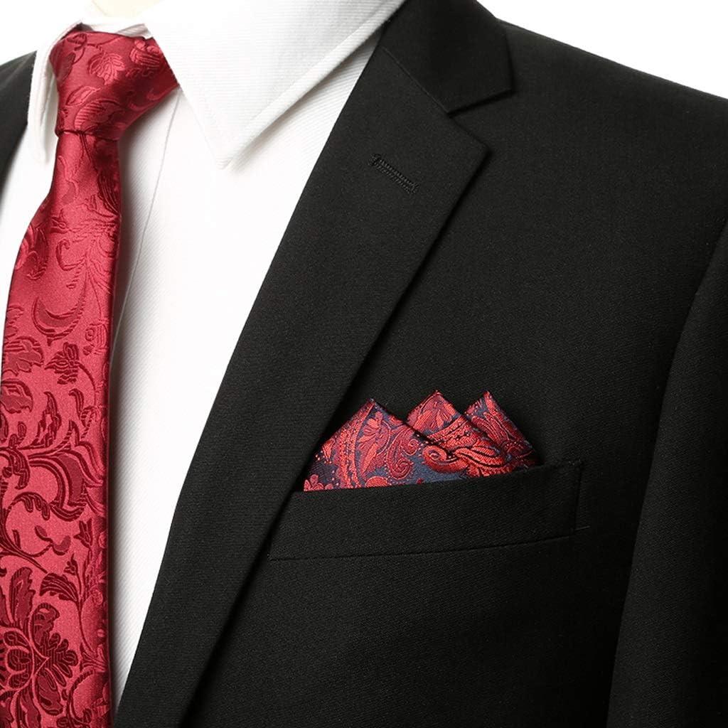 Nosterappou Burgundy pattern suit pocket towel, silky touch, men's suit pocket towel wine red classical pattern men's handkerchief suit small square scarf, bow tie men's wedding pocket towel, Thanksgi