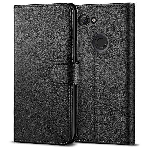 Vakoo für Google Pixel 3A Hülle, Premium Leder Brieftasche Handytasche Schutzhülle Tasche Handyhülle für Google Pixel 3A - Schwarz