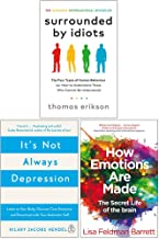 Surrounded by Idiots, It's Not Always Depression, How Emotions Are Made The Secret Life Of The Brain 3 Books Collection Set