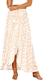 b12cb4270c63d2 Mujer Faldas Largas Verano Impresión Cintura Alta Irregular Dobladillo  Hippie Moda Casual Lindo Chic Falda Larga