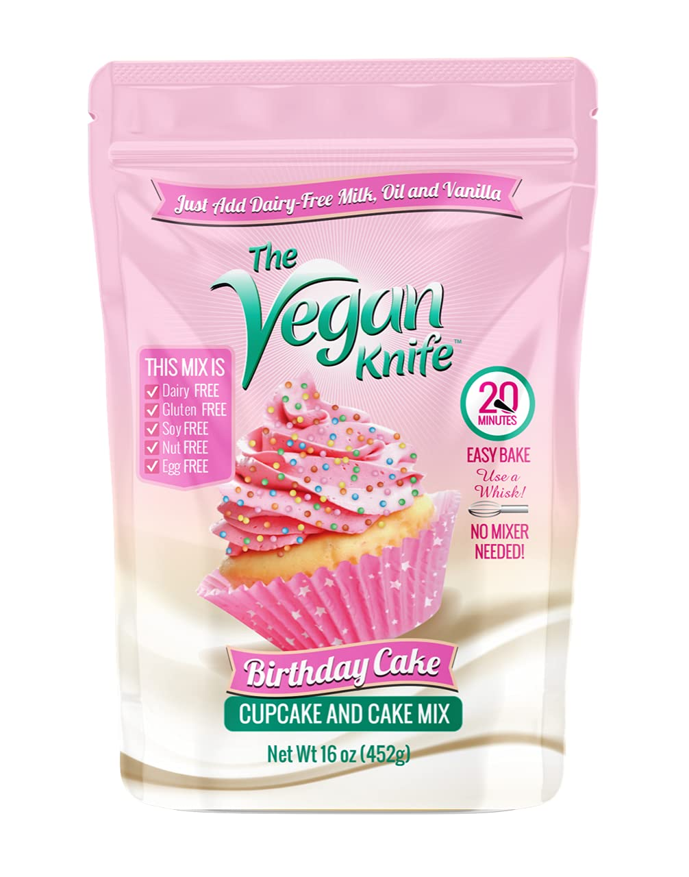 The Vegan Knife Gluten Free National products and Cake Wholesale Birthda Mix Cupcake