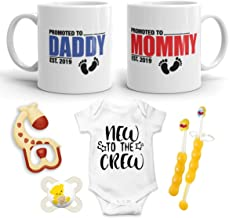 2019 Est Pregnancy Gift - New Promoted to Mommy & Daddy 11 oz mug set with