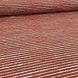 Schickliesel Jersey Stoff Meterware Basic Stripes (rost)