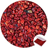 456 PCs Natural Chip Stone Beads, 5-8mm Irregular Multicolor Gemstones Loose Crystal Healing Red Coral Rocks with Hole for Jewelry Making DIY Crafts