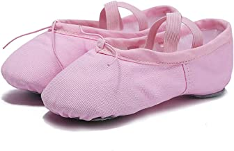kylebetter2 Cloth/Leather Head Gym Indoor Exercise Canvas Ballet Dance Shoes Girls Woman,Pink,11.5