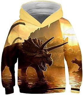 SWEATSHIRT Cospaly Sudadera con capucha para niño – Jurassic Park – Dinosaurio estampado 3D bolsillo sudadera con capucha ...