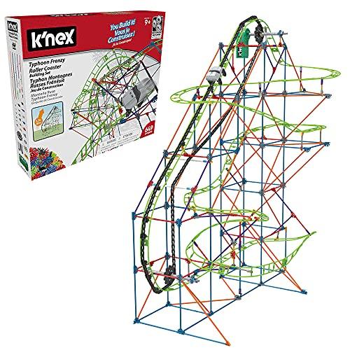 K'NEX 51438 Typhoon Frenzy Roller Coaster Building Set, 2-in-1 Model...