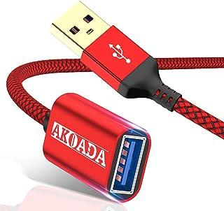 2 حزمة كابل وصلة USB 3.0 ، AkoaDa [70 أقدام + 100 قدم] نوع A ذكر إلى USB A أنثى تمديد سلك 5 جيجا بايت لنقل البيانات متوافق...
