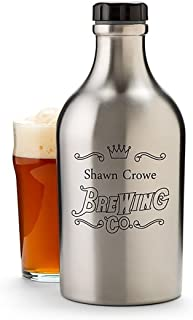 GiftTree Insulated Beer Growler Stainless Steel 64 oz   Personalize The for Beer Lovers   A Great Gift for Men and Women