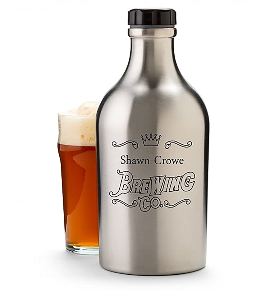 GiftTree Insulated Beer Growler Stainless Steel 64 oz | Personalize The for Beer Lovers | A Great Gift for Men and Women