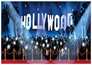 Allenjoy 7x5ft Photography Hollywood Backdrop Sweet 16 Birthday Party Supplies Awards Nights Movie Ceremony Themed Photo Booth Background Decorations Graduation Proom Adults Dance Selfie Props