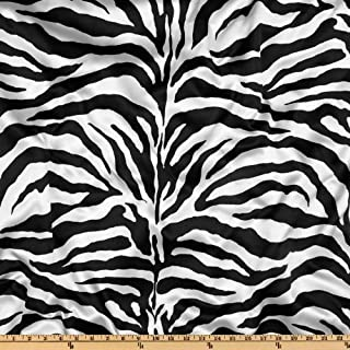 Best zebra print satin fabric Reviews