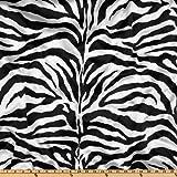 Ben Textiles Charmeuse Satin Zebra Stoff, weiß/schwarz,