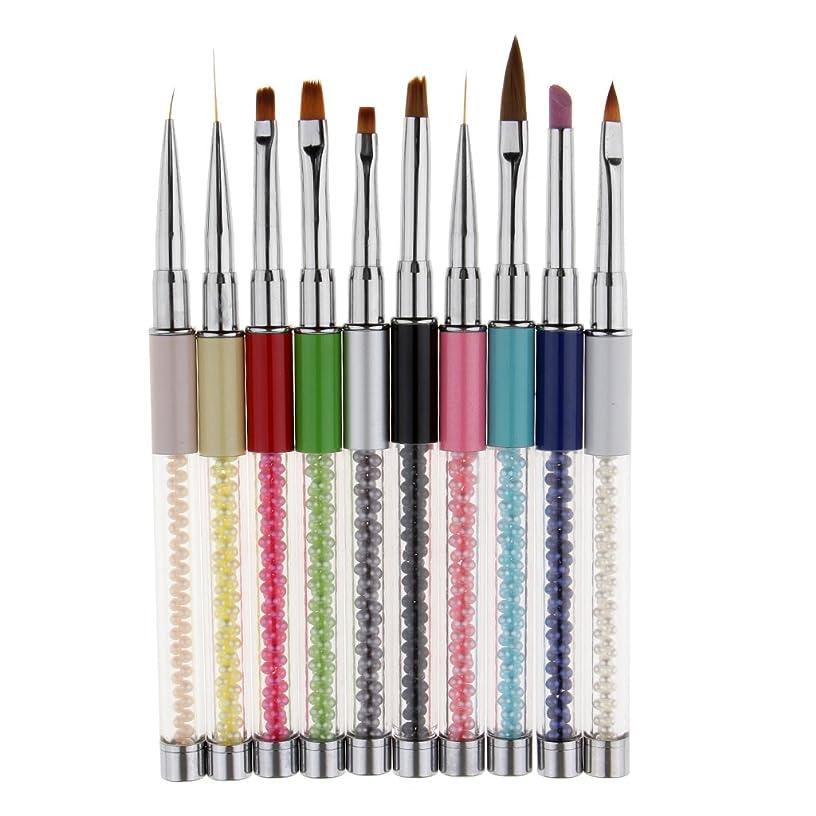 こしょう詐欺困惑したネイルアート ネイルブラシ 絵画ブラシ 点描ブラシ 点描ライナーペン ネイルデザイン 10本セット