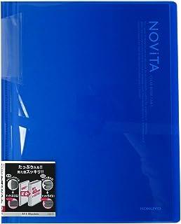 コクヨ ファイル クリアファイル ノビータ 固定式 A4 20ポケット 青 ラ-N20B