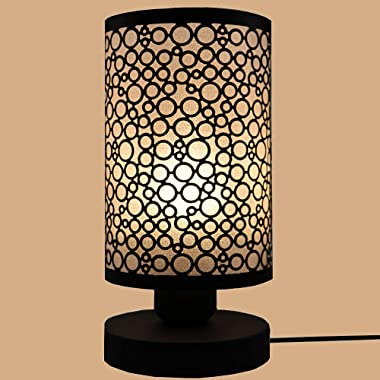 Bedside Table Lamp,Modern Simple Desk Lamp, Night Light ,Bubble Metal Lampshade Desk Lamp with On/Off Switch, for Living Room