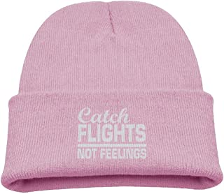 ADGoods Kids Children Catch Flights Not Feelings Beanie Hat Knitted Beanie Knit Beanie For Boys Girls Gorra de béisbol par...