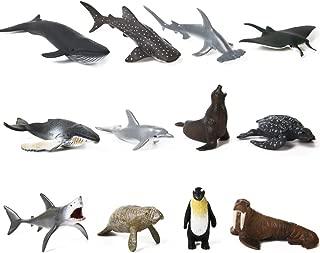 DOPHYRANIX 24 Pieces Ocean Sea Animals Toy Figure
