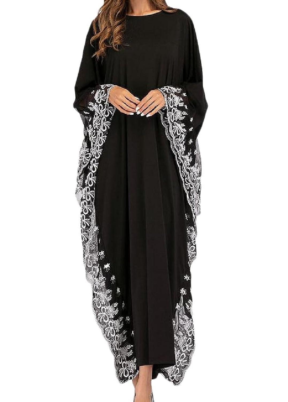 VITryst 女性のイスラム教徒の固体色の刺繍されたアラブのプラスサイズkaftans