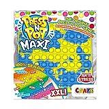 CRAZE Pop it-Fidget Toy-Juguete Anti Estrés XXL-Cuadrado Multicolor, niñas y Adultos (37478)