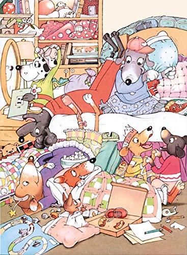 Hundefamilie 500 Puzzle Kinderpuzzle Urlaub Geburtstagsgeschenk