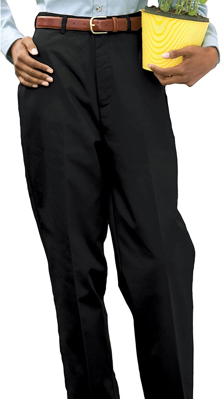 Ed Garments Bargain Women's Credence Flat Front Blac Utility Pant Button Closure