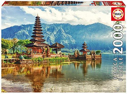 Educa-2000 Temple Ulun Danu, Bali, Indonesia Puzzle, Colore Vario, 17674