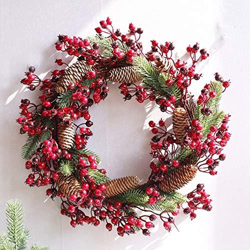 FEILI Decoración Navideña Guirnalda/Árbol De Navidad/Corona De Pino con Conos De Pino/Pared Decoraciones/La Decoración del Hogar/Puerta De Baño/Día De...