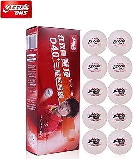 DHS ABS D40+ 3-Star White Table Tennis Balls; 10 / Box