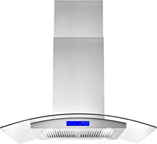 Cosmo 668ICS900 36 in. Ducted Island Range Hood with LED Lighting and Permanent Filters, Stainless Steel