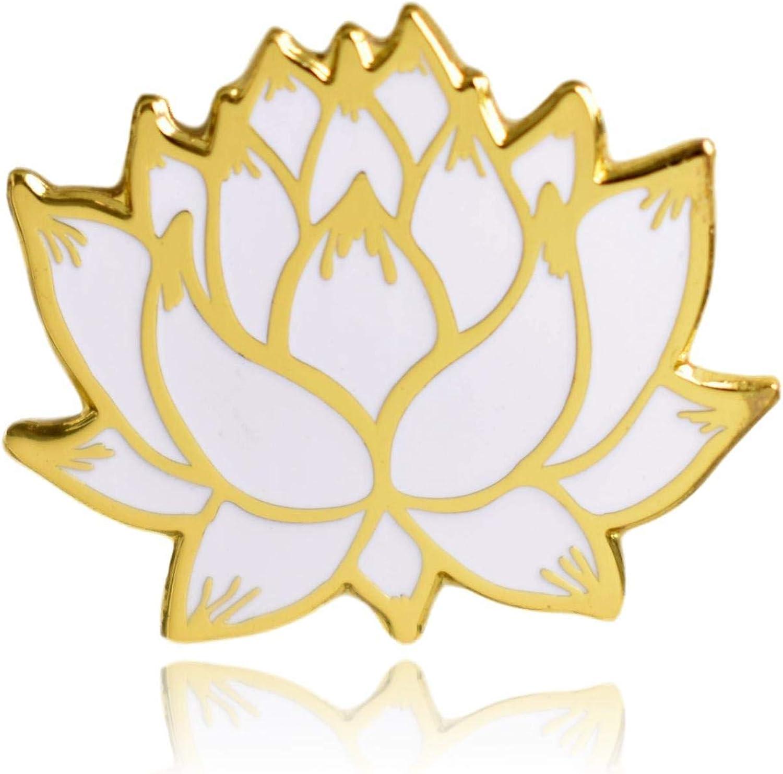Lotus Flower Hard Enamel Lapel Pin