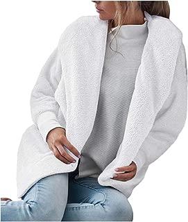 Energy Women's Velvet Solid Hood Long Sleeve Open-Front Coat Jacket