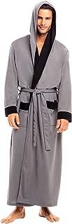 Men's Ultra Soft Waffle Robe with Hood, Long Full Length Bathrobe