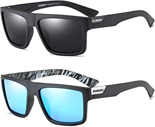 Retro Polarized Sunglasses for Men and Women Classic Vintage Square Sun Glasses UV400 Protection