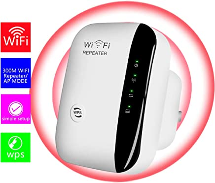 $22 Get WiFi Extender-Mini WiFi Range Extender,N300 Wireless WiFi Repeater for 2.4GHz Internet WiFi Signal Booster Amplifier 802.11n/b/g Network with Ethernet Cable