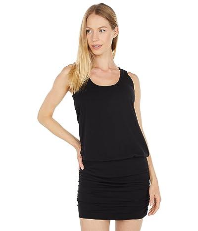 bobi Los Angeles Draped Modal Jersey Blouson Tank Dress
