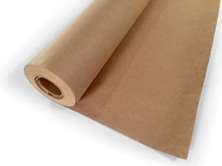 Brown Kraft Paper Roll 24 x 1800 Inches (150 Feet Long) Single Roll - 100% Recycled Materials, Multi-use, DIY Wrapping Paper Roll, Arts & Crafts Table Cover, Packaging Paper Filler. by Woodpeckers