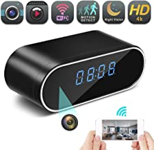 Hidden Spy Camera Wireless Hidden,FEEKE 4K Clock Hidden Cameras Wireless IP Surveillance Camera for Home Security Monitor Video Recorder Nanny Cam 150 Angle Night Vision Motion Detection(Black)