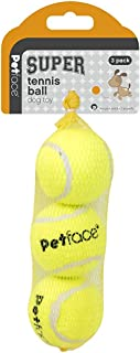 Petface Super, Tennis Ball - Dog Toy | Tough, Long Lasting, Hollow, No Squeak | Fetch & Chew | Various Sizes | Perfect Puppy Ball, Small Dog or Large Dog Ball