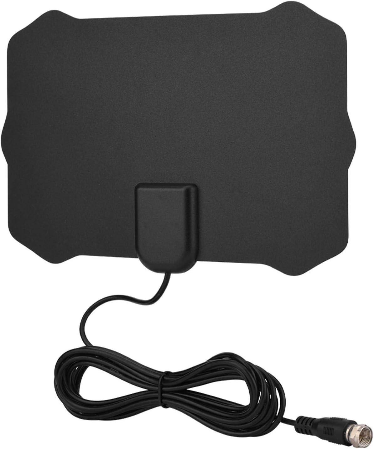 Tosuny Antena de TV, Antena Interior HDTV con Amplificador Portatil, 50 Millas Gama de Recepción Compatible VHF/UHF