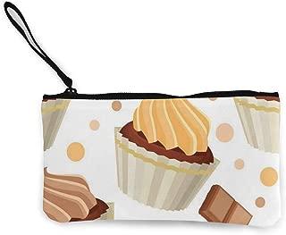Love Paris Doodle Women's Travel Canvas Coin Purse Customized Small Clutch Pouch Phone Organizer Bag