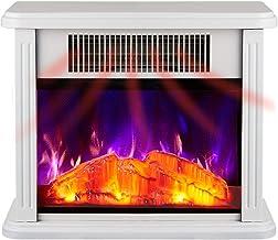 ZJZ Chimenea de calefacción eléctrica Simple decoración de Madera Maciza decoración de gabinete Estufa de calefacción decoración Chimenea eléctrica
