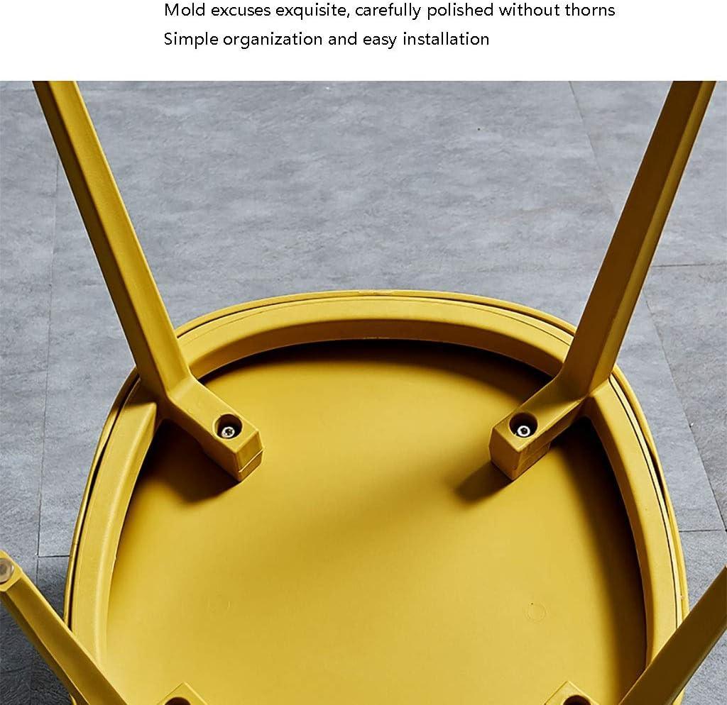Chaise Simple en Plastique Dinant La À La Maison De Dossier De Tabouret De Restaurant À La Maison (Couleur : Blanc) Gray